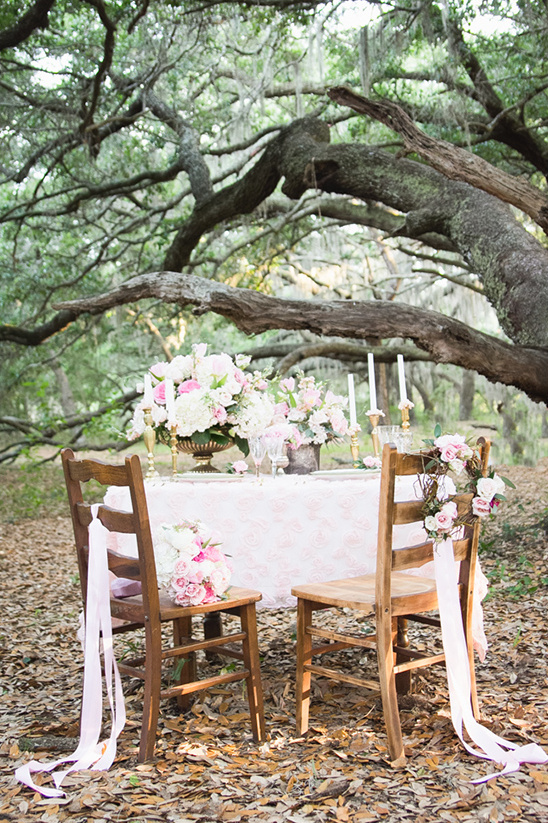cute table for two in the woods