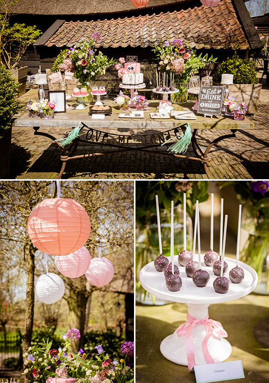 blush and mint wedding dessert table @weddingchicks