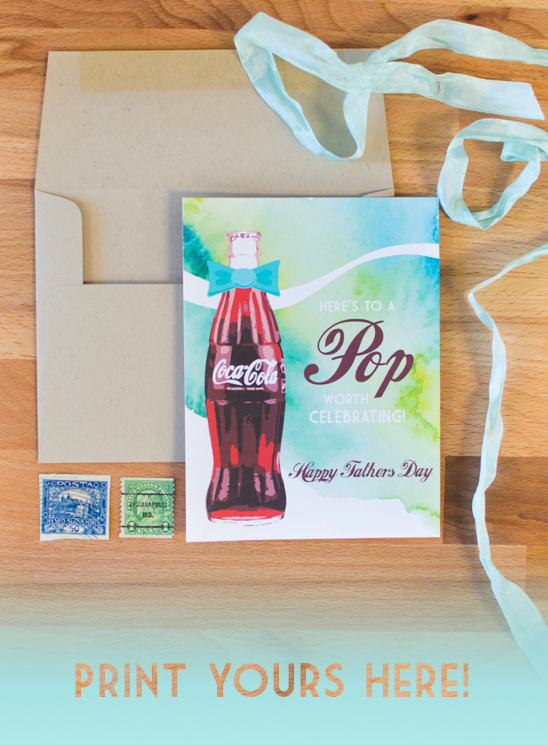 Free Father's Day printable card #ShareaCokeContest
