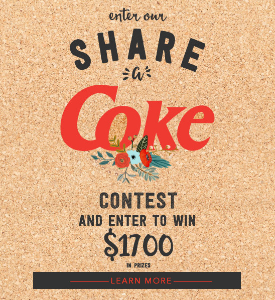 Enter ShareaCokeContest and win $1700 in prizes