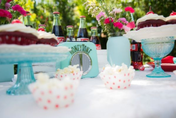 Blue And Red Coke Wedding Inspiration