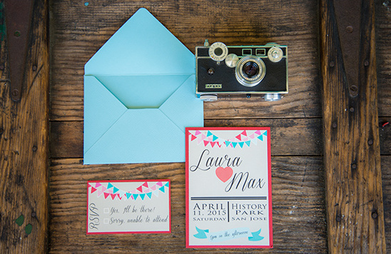 blue and red wedding stationery @weddingchicks