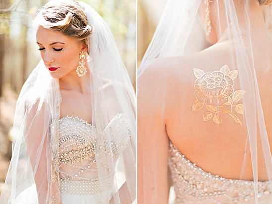 bridal details and gold tattoo @weddingchicks