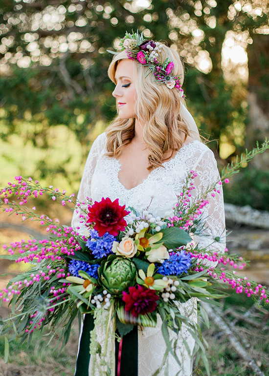 boho chic bridal looks @weddingchicks