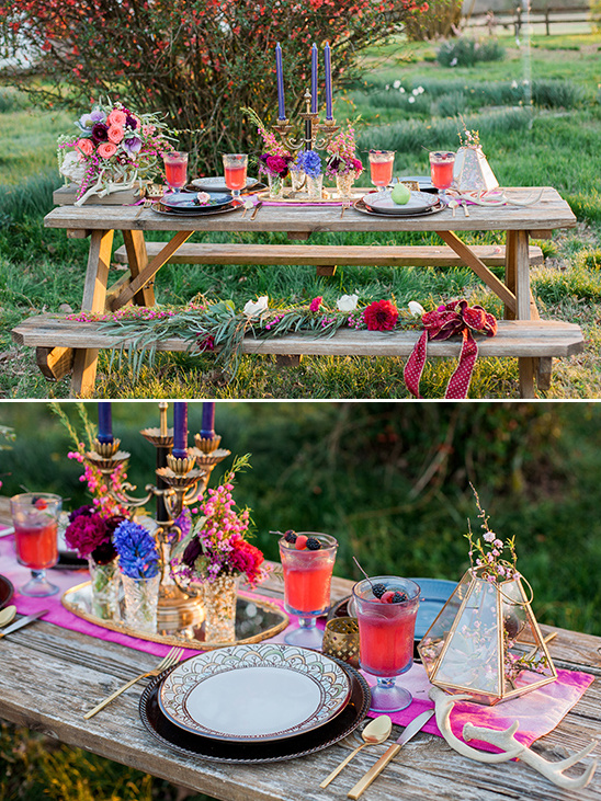 picnic table decor @weddingchicks