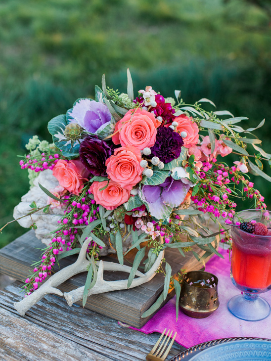 boho bouquet @weddingchicks