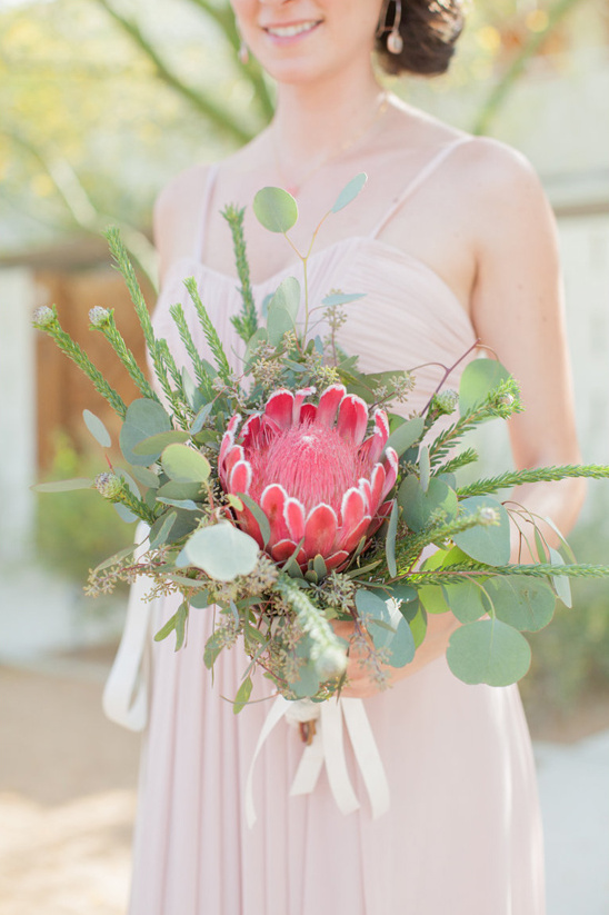 protea bouquet @weddingchicks