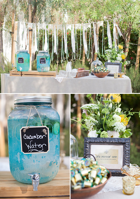 water and popper table @weddingchicks
