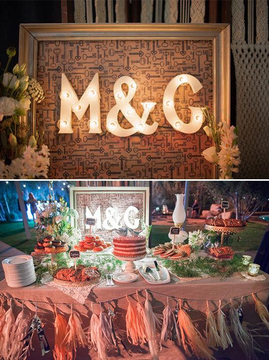 marquee cake table sign @weddingchicks