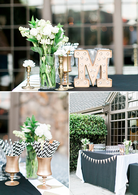 ceremony drinks table with marquee sign @weddingchicks