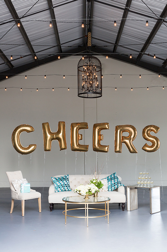 cheers champagne soiree setup @weddingchicks