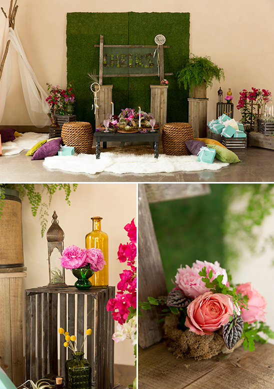 boho chic reception ideas @weddingchicks