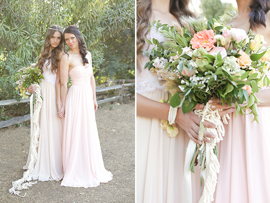 soft pink bridesmaid dresses by Jamie Elyse Couture @weddingchicks