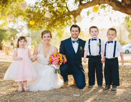 flower girl and ring bearers @weddingchicks