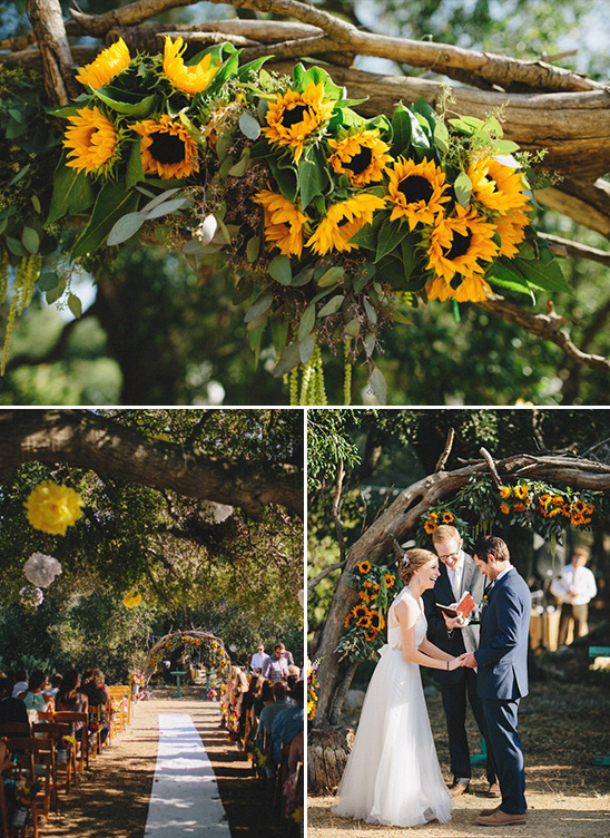 sunflower wedding arch @weddingchicks