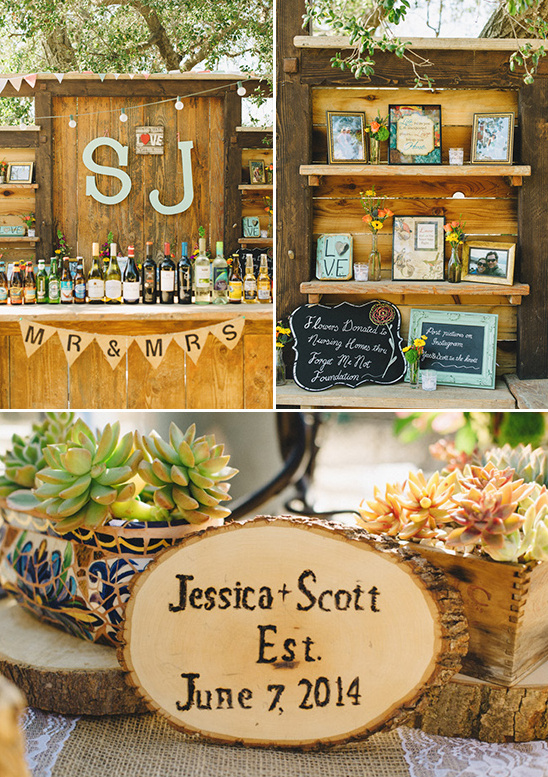 rustic wedding bar @weddingchicks