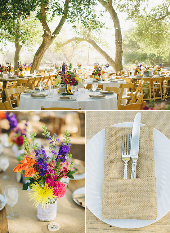 rustic outdoor wedding reception decor @weddingchicks