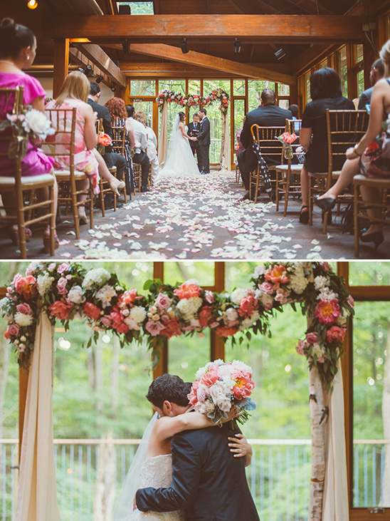 floral arch reception ideas