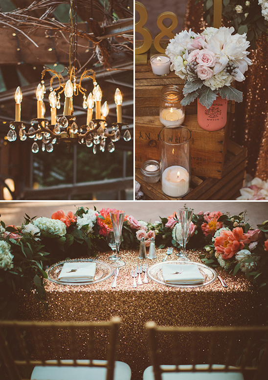 rustic glam sweetheart table
