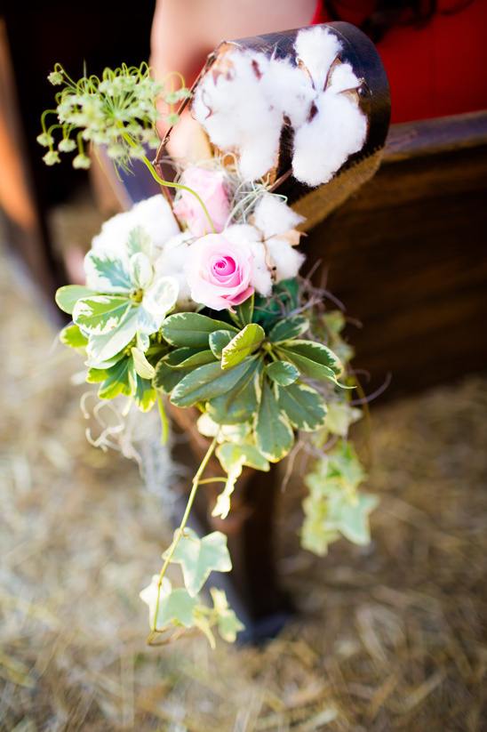 rose ivy and cotton aisle decor