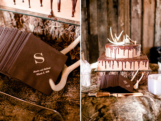 antler topped grooms cake