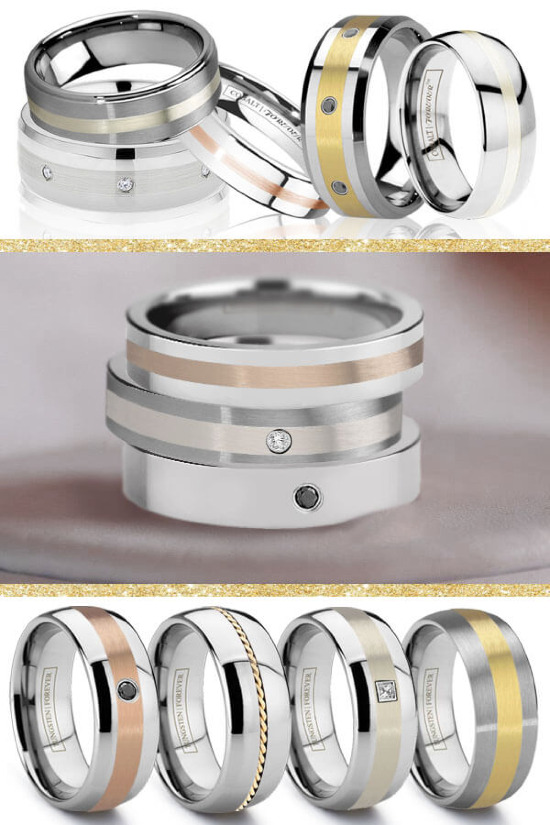 Men's wedding bands from Tungsten World. #weddingchicks