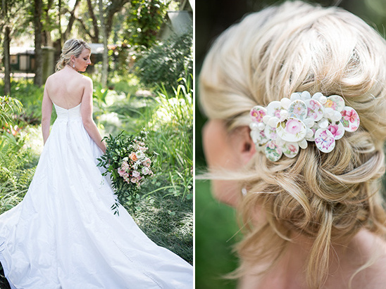 vintage bridal hair accessory @weddingchicks