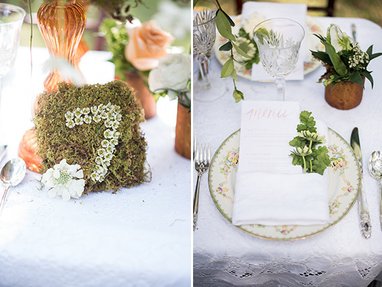 floral table numbers @weddingchicks