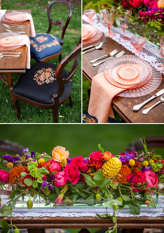 vintage sweetheart table details @weddingchicks