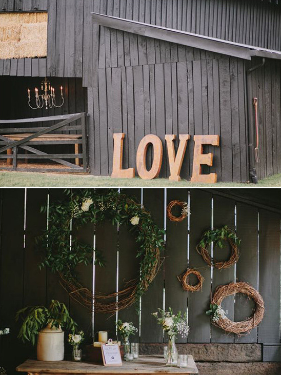 giant love wedding sign