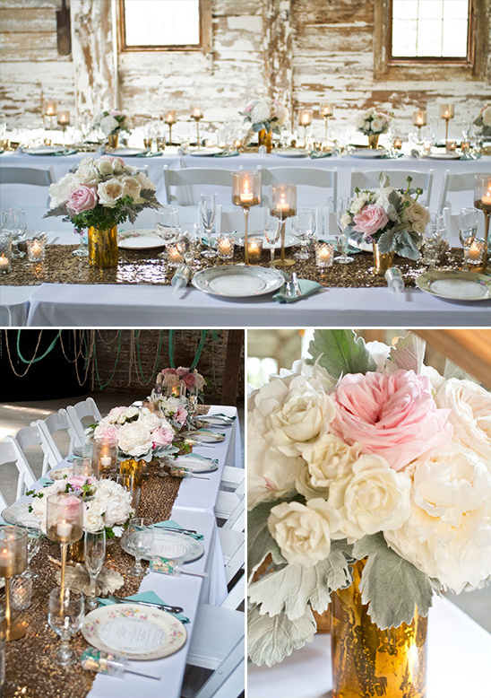rustic glam table decor