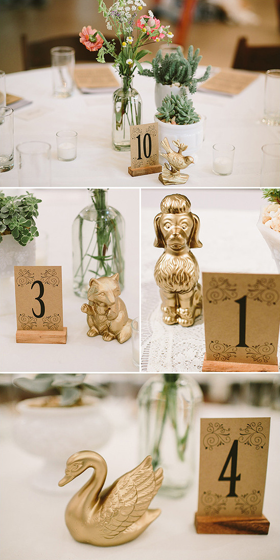 unique table numbers and decor