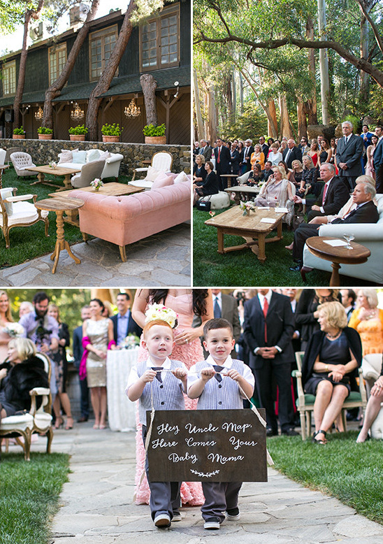 lounge style wedding ceremony @weddingchicks