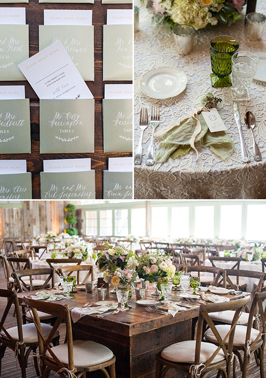 shades of green reception @weddingchicks