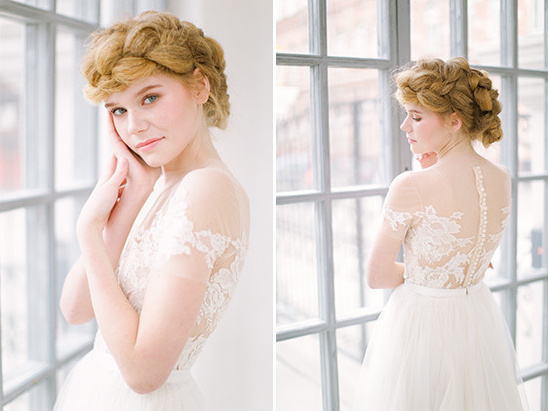 chunky braid wedding hair @weddingchicks