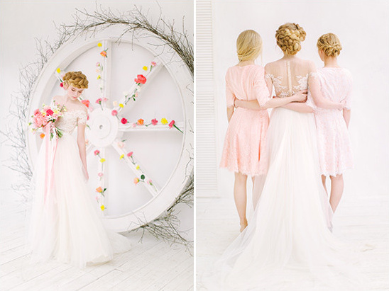 blush bridesmaids @weddingchicks