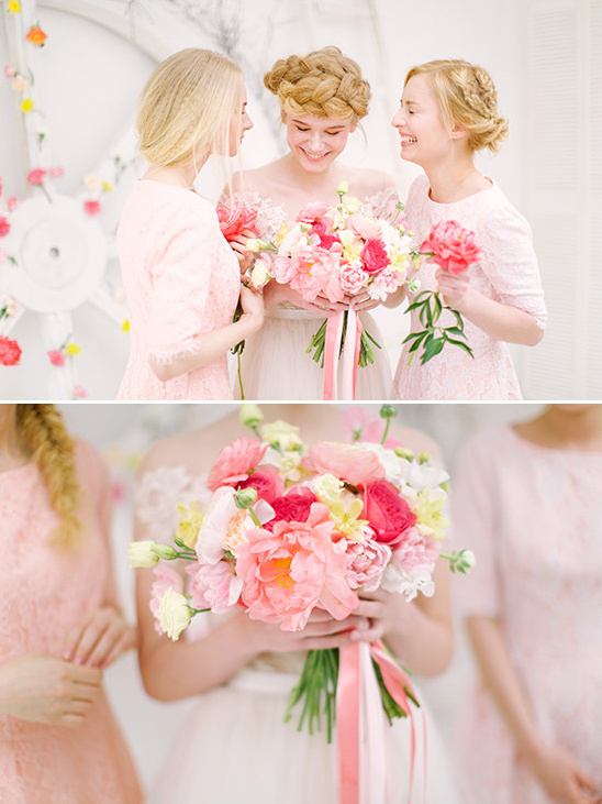 soft pink bridesmaids @weddingchicks