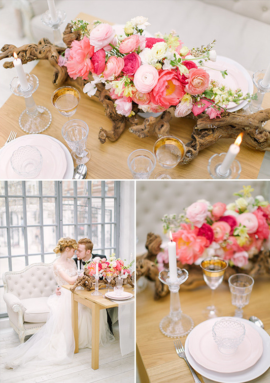 romantic pink and white sweetheart table @weddingchicks