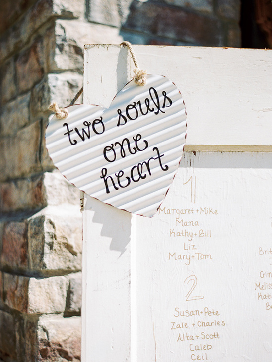 two souls one heart sign @weddingchicks