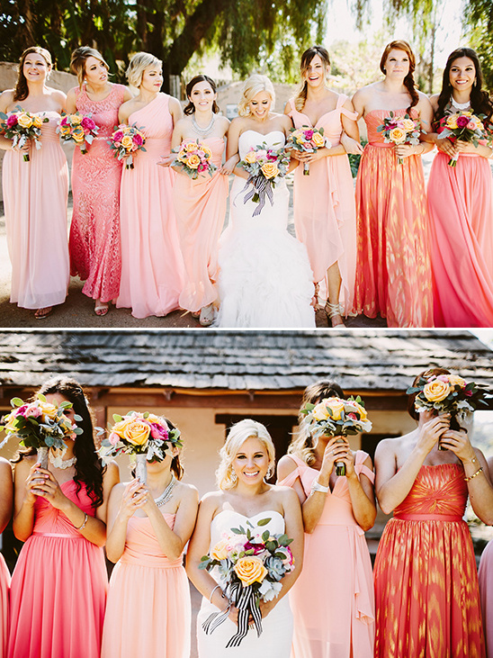 Pop Of Pink Modern Wedding