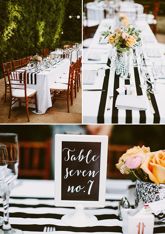black and white modern wedding reception @weddingchicks