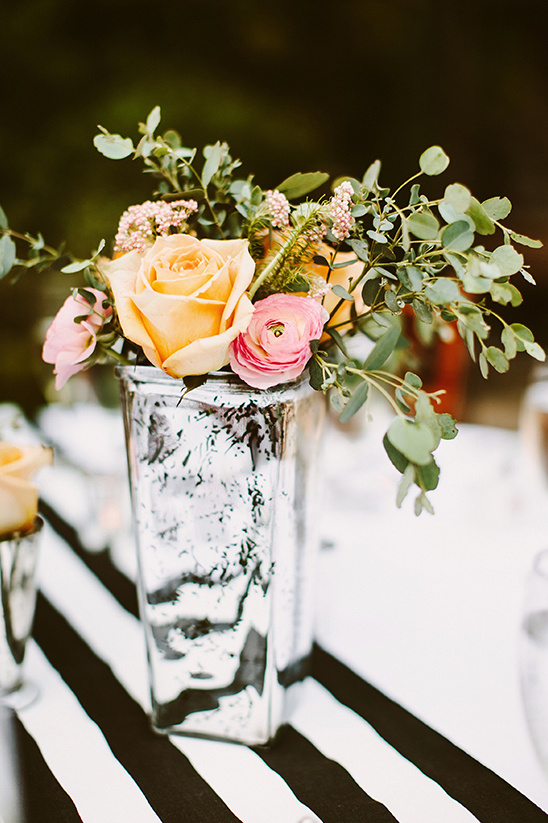 mercury glass vase centerpieces @weddingchicks
