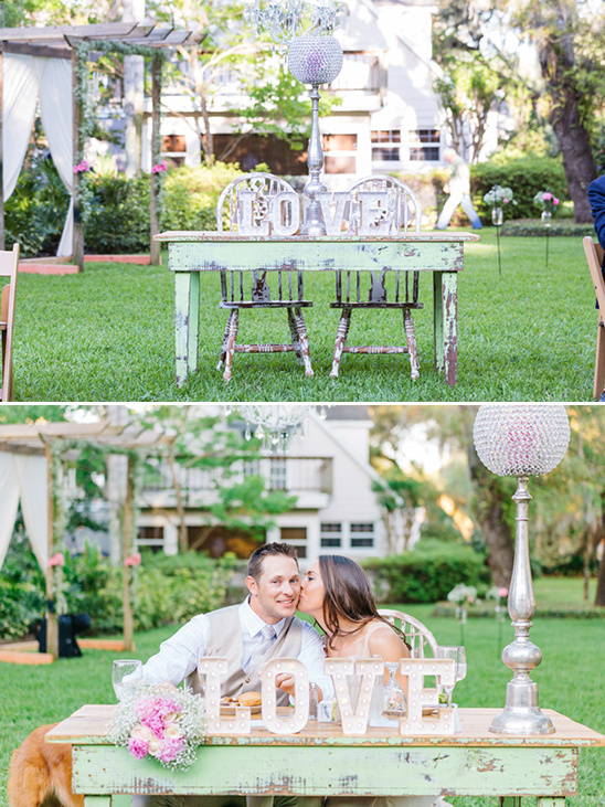 sweetheart table love marquee sign @weddingchicks