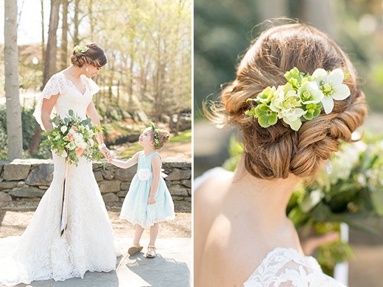 floral hair piece @weddingchicks