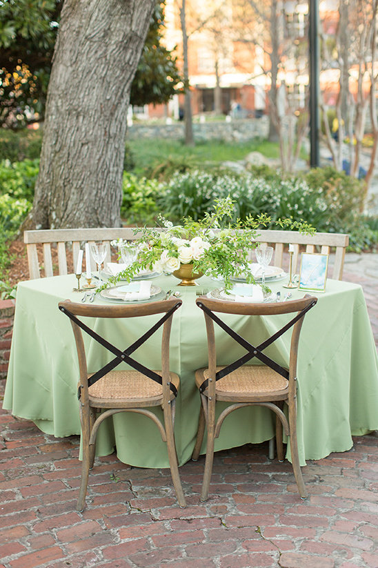 soft green wedding reception @weddingchicks