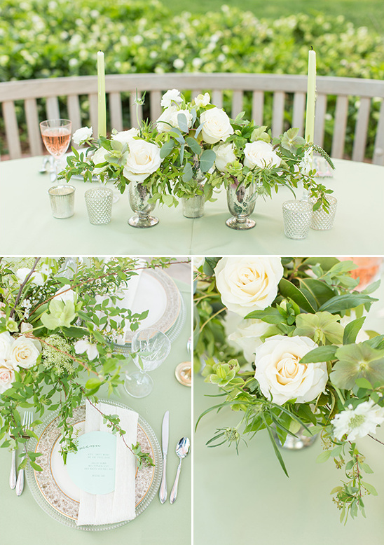 soft cream and white table decor @weddingchicks