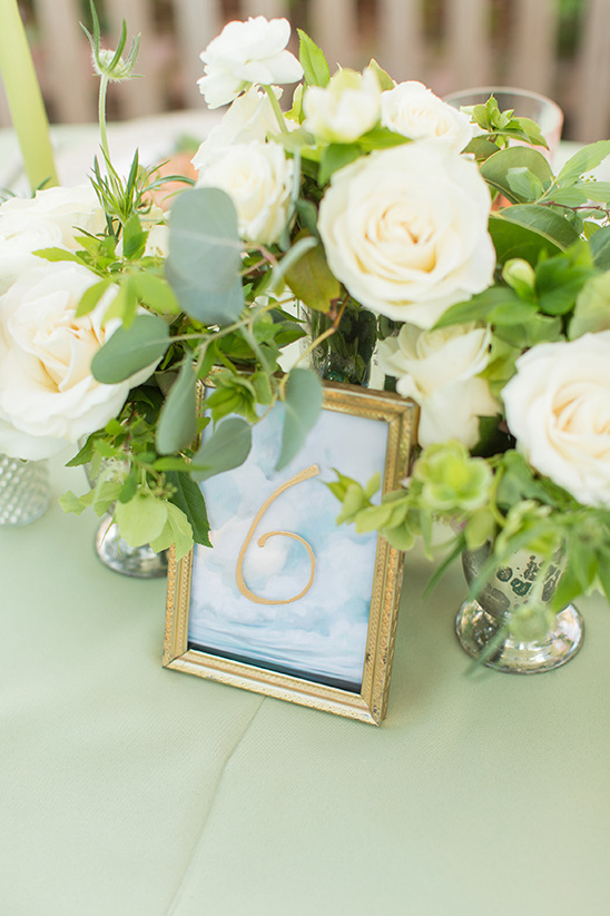 watercolor table numbers @weddingchicks