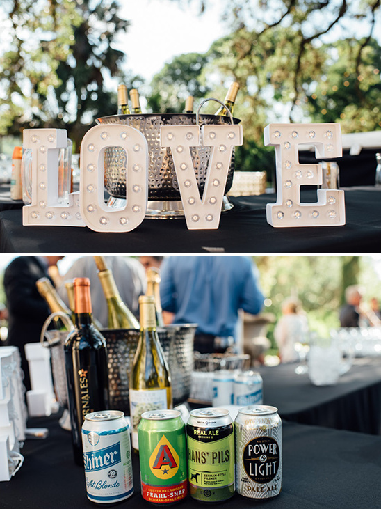 love marquee sign drinks bar @weddingchicks