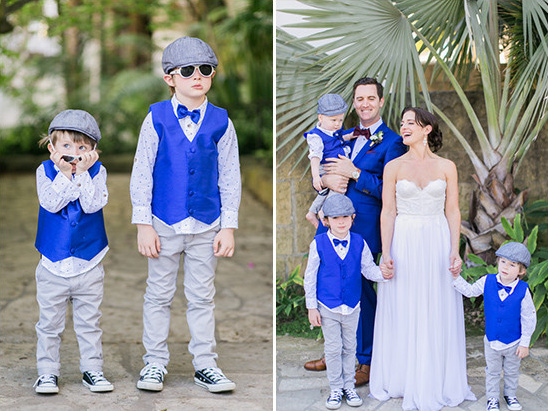 royal blue and grey ring bearers @weddingchicks