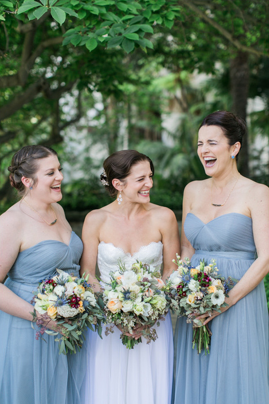 grey blue bridesmaids @weddingchicks